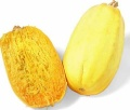 spaghetti squash (squash that looks like spaghetti but is not spaghetti because it is squash...it just has the appearance of spaghetti, but it is not in any way pasta)