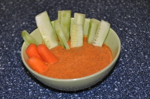 easy almond red pepper dip