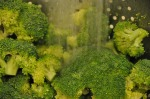 rinsing broccoli