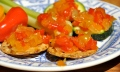 this amazing pepper relish is great on rice crackers or veggies.  Also in a hummus sandwich or on top of a veggie burger