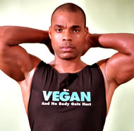 Vegan body builder Kenneth Williams