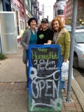 Flo, Hlynn and Susan at the Happy Hummus Hut!