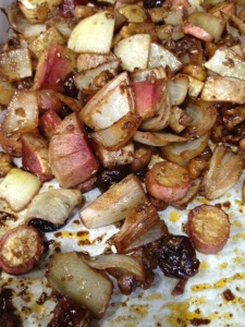 roasted radish vegan recipe